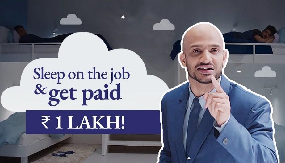Sleep on the Job and get paid