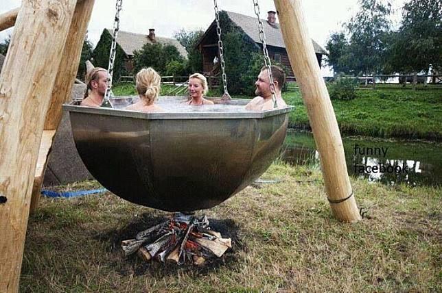ayunan mandi air panas