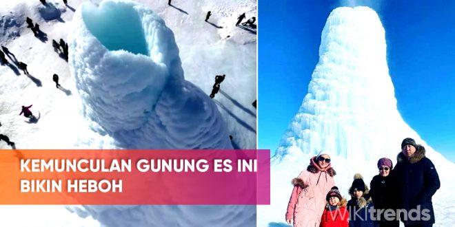 gunung es di kazakhstan