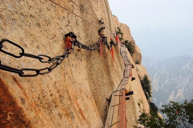 akses ke gunung Hua di China