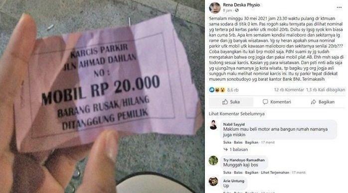 tarif parkir malah di malioboro